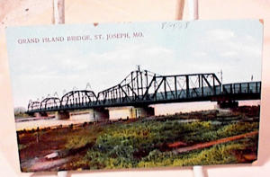 GRAND ISLAND BRIDGE POSTCARD~ST JO~MO (Image1)