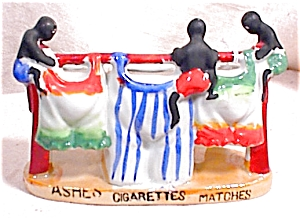 Black Figural Smoking Set