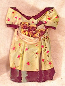 New England Mincemeat Paper Doll Dress