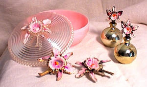 6pc Plastic Childs Vanity Set - Ma Perkins - 1930
