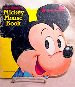 MICKEY MOUSE GOLDEN SHAPE BOOK~#5806-3 (Image1)