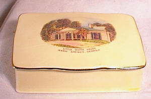 FDR'S  WHITE HOUSE~SOUVENIR  BOX~WARM SPGS GA (Image1)