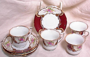 Goldcastle Demitasse - Set Of 4 Cups & Saucers