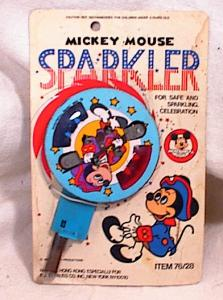 MICKEY MOUSE CLUB SPARKLER~ON CARD (Image1)