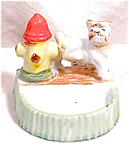 Dog At Hydrant Figural Tray - Mioj
