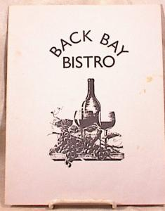 Back Bay Bistro - Copley Sq - Boston