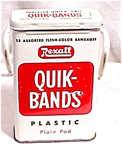Vintage Rexall Band Aid Tin