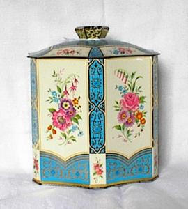 FLORAL TEA OR BISCUIT TIN (Image1)