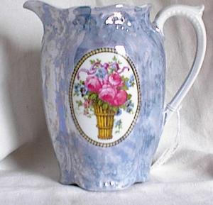 Blue Lustre Bavarian Pitcher