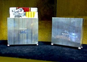 STERLING SILVER NAPIER CIGARETTE BOX HOLDERS (Image1)