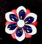 PATRIOTIC~BICENTENNIAL~RED/WHITE/BLUE~ENAMEL
