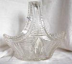 Click here to enlarge image and see more about item 1295: CUT GLASS BASKET