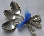Click to view larger image of  5 TEASPOON~WM ROGERS~CHALICE~HARMONY~CARLTON (Image1)