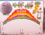 Click here to enlarge image and see more about item 1792: HE IS RISEN~3D PAPER EASTER SCENE~MIP~