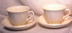 Click here to enlarge image and see more about item 1910: PR WEDGWOOD QUEENS CUPS & SAUCERS