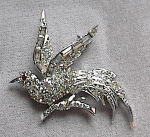 Click here to enlarge image and see more about item 2044: VINTAGE RHINESTONE BIRD PIN BY PELL