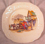 "Click here to enlarge image and see more about item 2244: CROOKSVILLE CHINA 4"" CUP PLATE?~STAGECOACH SC"