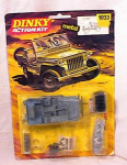 Click here to enlarge image and see more about item 2254: DINKY U S JEEP DIECAST MODEL KIT #1033 NRFB