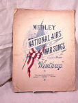 Click here to enlarge image and see more about item 2364: 1898 PATRIOTIC SHEET MUSIC~WAR SONGS