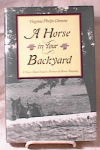 Click here to enlarge image and see more about item 2382: HORSE IN BACKYARD~CLEMENS~FE/HC/DJ