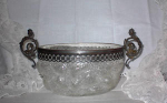 Click here to enlarge image and see more about item 2575: OVERSHOT CENTERPIECE BOWL~ART NOUVEAU FINIALS