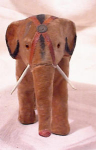 Click here to enlarge image and see more about item 2632: EARLY COMPOSITION ELEPHANT~GERMAN~SCHUCO?