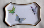 Click here to enlarge image and see more about item 2681: LIMOGES BUTTERFLY PIN TRAY