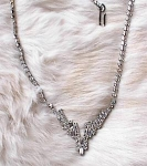 VINTAGE RHINESTONE NECKLACE - DECO STYLE