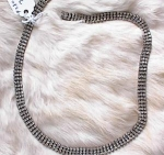 Click here to enlarge image and see more about item 2800: VINTAGE RHINESTONE CHOKER-DECO LOOK