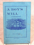 Click here to enlarge image and see more about item 2812: A BOYS WILL~1934 BOOKLET~DOUGLAS MASS