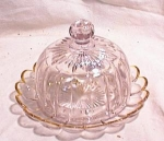 Click here to enlarge image and see more about item 2889: NORTHWOOD ~  COVERED BUTTER ~ CHEESE DISH