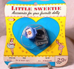 Click here to enlarge image and see more about item 2977: LITTLE SWEETIE DOLL TV & HI-FI SET~c1950's~MO