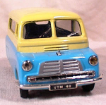Click here to enlarge image and see more about item 3008: CORGI AQUA & YELLOW BEDFORD VAN~CWT 10/12