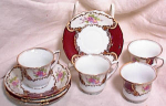 GOLDCASTLE DEMITASSE~SET OF 4 CUPS & SAUCERS