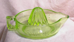 LARGE EMBOSSED SUNKIST REAMER~GREEN~1920's