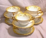 Click here to enlarge image and see more about item 3171: SET 6 WEDGWOOD CREAM SOUPS~PORTLAND MARK