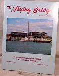 Click here to enlarge image and see more about item 3290: THE FLYING BRIDGE MENU~FALMOUTH MA