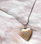 VINTAGE LOCKET FOR 2 PHOTOS~SIGNED K & L