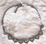Click here to enlarge image and see more about item 800: VINTAGE RHINESTONE CHOKER-DECO LOOK