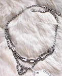 Click here to enlarge image and see more about item 802: VINTAGE RHINESTONE CHOKER-CENTER DROP
