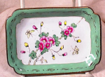Click here to enlarge image and see more about item 969: ORIENTAL ENAMEL PIN TRAY~BUTTERFLY