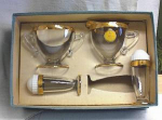 Click here to enlarge image and see more about item dg1353: JEANNETTE GLASS 22KT 4PC HOSTESS SET