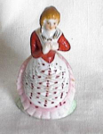 "Click here to enlarge image and see more about item oj78: 4"" COLONIAL  LADY  WITH  PARASOL FIGURINE"