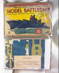 Click here to enlarge image and see more about item pa582: WWII PAPER MODEL BATTLESHIP