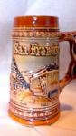 Click here to enlarge image and see more about item po1414: MADE IN JAPAN SAN FRANCISCO SOUVENIR STEIN