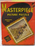 Click here to enlarge image and see more about item TY1491: 1945 MASTERPIECE PICTURE PUZZLE...MIB