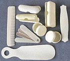 Vintage Celluloid French Ivory Dresser Pieces