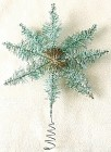 Vintage Small German Green Tinsel Star Tree Topper