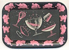 Pink Elephant Metal Trays Set of 7