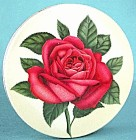 Vintage Mrs. Steven's Red Rose Candies Tin